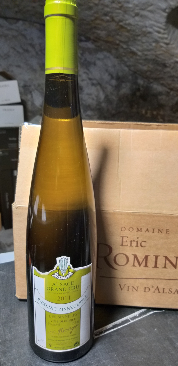 (1018-005) Riesling Grand Cru Zinnkoepflé 2011 - Blanc Sec Tranquille - Domaine Eric Rominger (Claudine Sutter-Rominger)