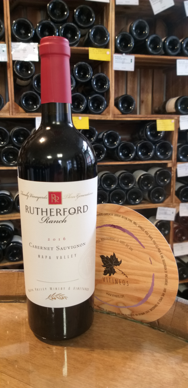 (1061-001) Cabernet Sauvignon 2016 - Rouge Sec Tranquille - Rutherford Wine Company