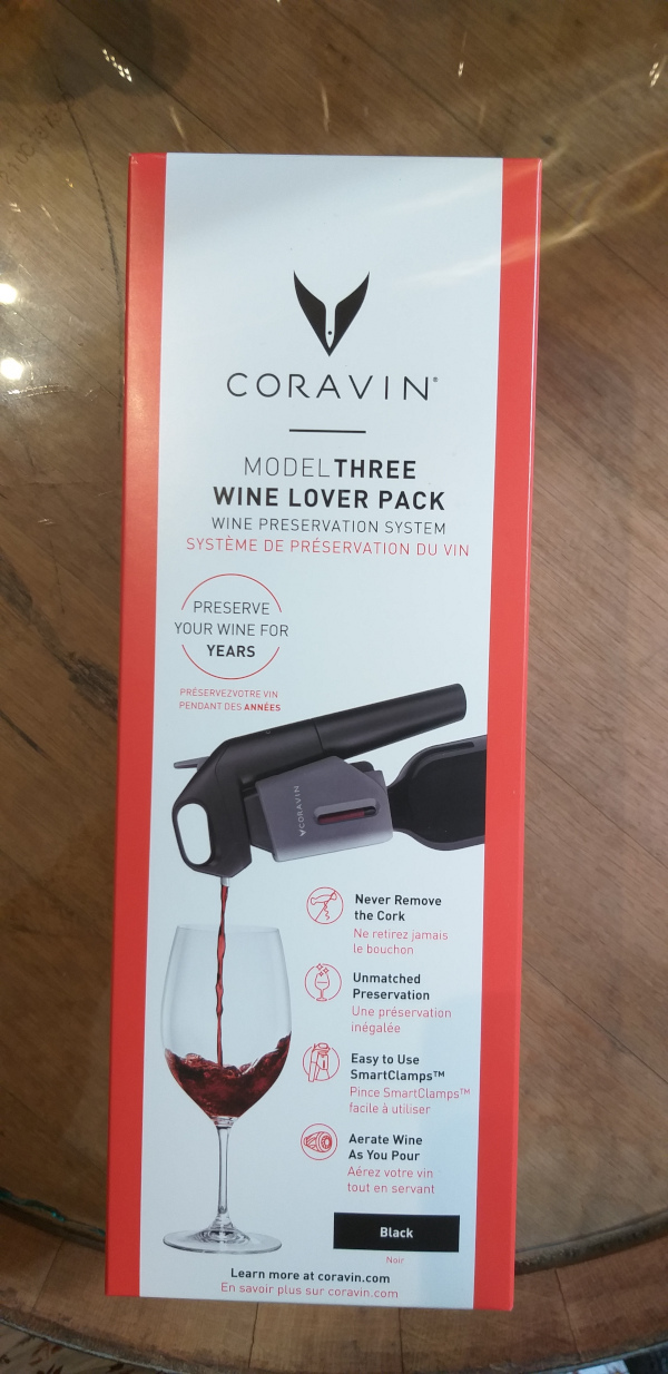 (9002-002) Model Three -Wine Lover Pack - Black - Coravin